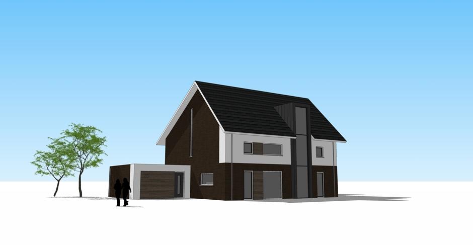 architect zwolle moderne twee-onder-een-kap 1